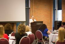 Dawne Gee spoke at the fifth annual Women's Leadership Conference about the power of a positive attitude.