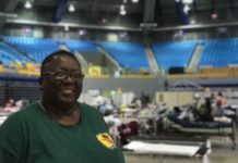 UofL School of Nursing Assistant Professor Montray Smith, M.S.N., R.N., at the Federal Medical Station in Manatí, Puerto Rico, where she provided care in the wake of Hurricanes Irma and Maria with a federal Disaster Medical Assistance Team.
