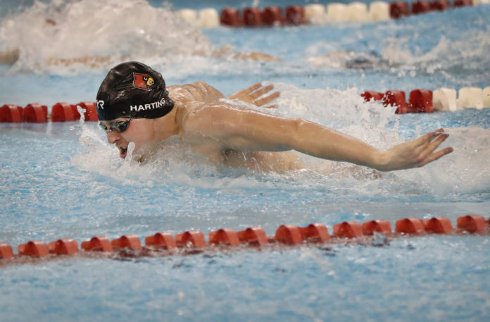 This summer, Zach Harting placed third at the Pan Pacific Championships in Tokyo.